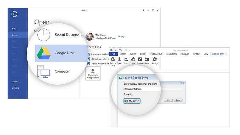 Microsoft Office permite salvar arquivos direto no Drive