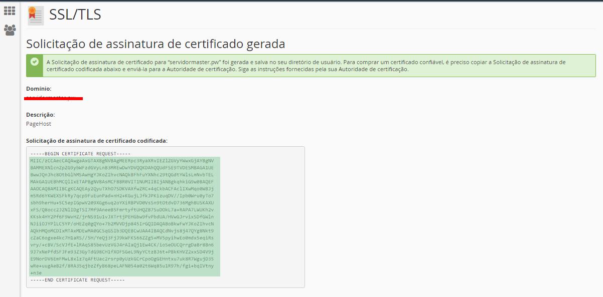 SSL/TLS SOLICITACAO DE ASSINATURA