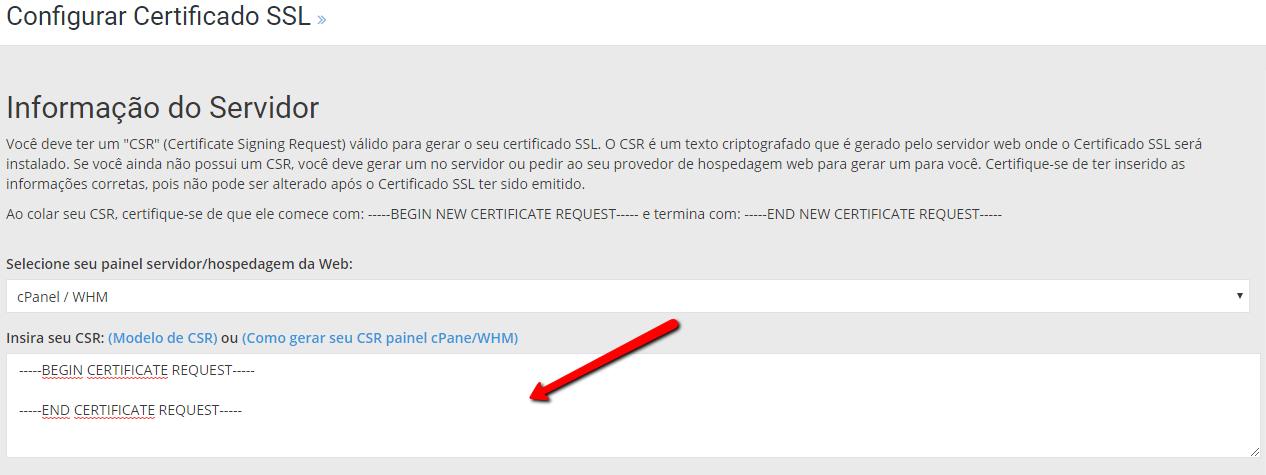 Cadastrar SSL PageHost